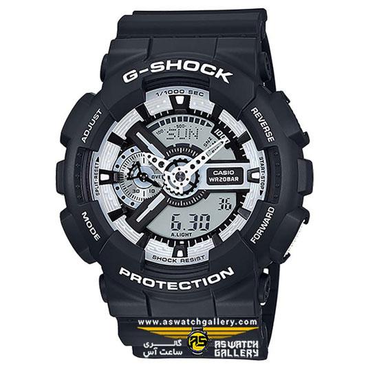 ساعت مچی کاسیو مدل ga-110bw-1adr