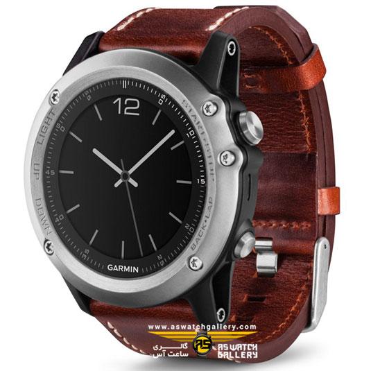 ساعت مچی زنانه مردانه گارمین مدل fenix3 leather band