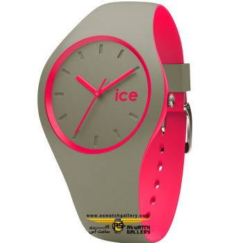 ساعت آیس ice duo-khaki pink small