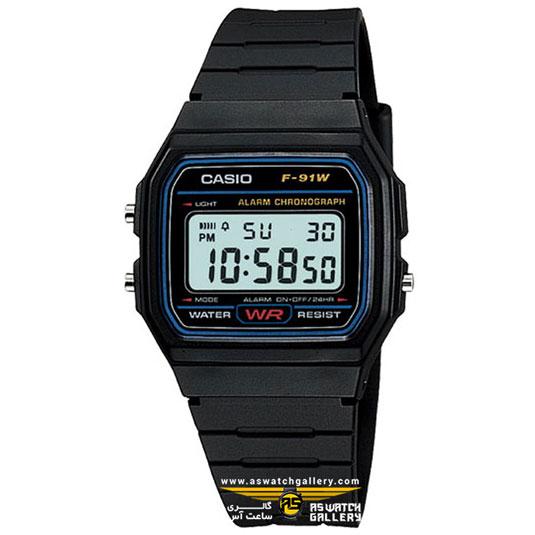 ساعت مچی کاسیو مدل f-91w-1dg