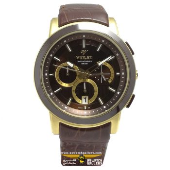 ساعت ویولت مدل 0412G-2LEATHER