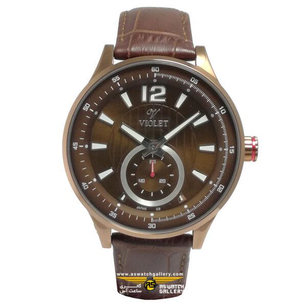 ساعت ویولت مدل 12375GBR-2LEATHER