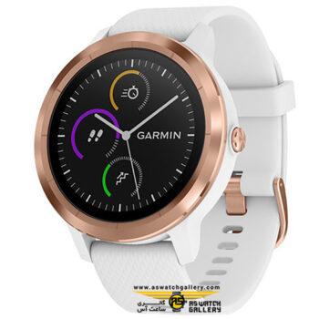 ساعت گارمین مدل VIVOACTIVE 3 WHITE /ROSE GOLD
