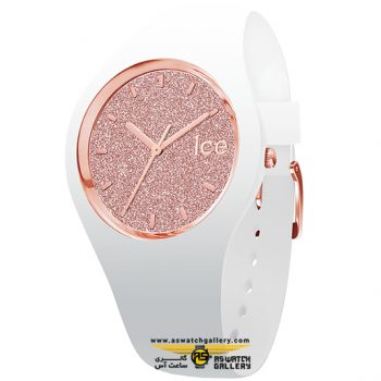 ساعت آیس مدل ICE GLITTER-WHITE ROSE-GOLD-SMALL-3H