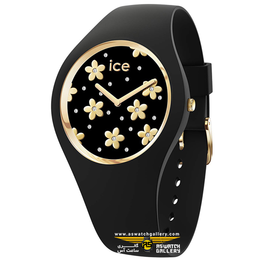 ساعت آیس واچ مدل ICE FLOWER-PRECIOUS BLACK-MEDIUM